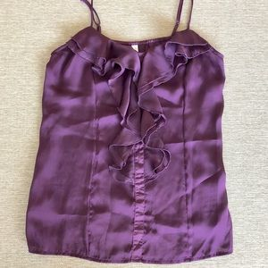 Silky, plum colored blouse